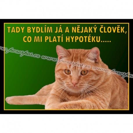Tabulka HYPOTÉKA kočka, univ.