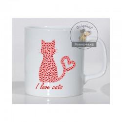 Hrnek bílý - I LOVE CATS
