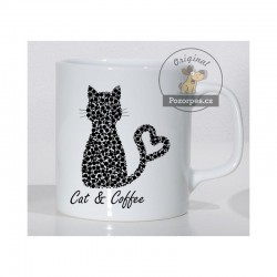 Hrnek bílý - CAT & COFFEE