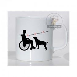 Hrnek bílý - Vozíčkář a pes