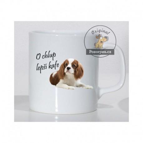 """Cavalier King Charles Spaniel - """"O chlup lepší kafe"""""""