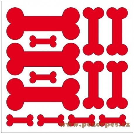 Samolepící psí kostičky na auto řezané arch 25x25 cm