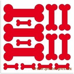 Samolepící psí kostičky na auto řezané arch 50x50 cm
