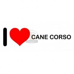 Samolepka na auto I LOVE CANE CORSO