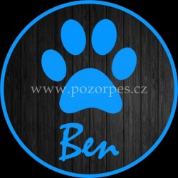 BEN - Samolepka na auto 3ks