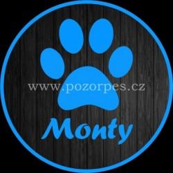 MONTY - Samolepka na auto 3ks