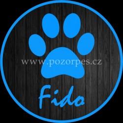 FIDO - Samolepka na auto 3ks