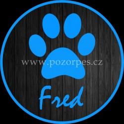 FRED - Samolepka na auto 3ks