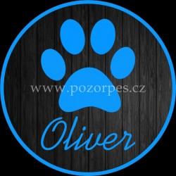 OLIVER - Samolepka na auto 3ks