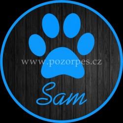 SAM - Samolepka na auto 3ks