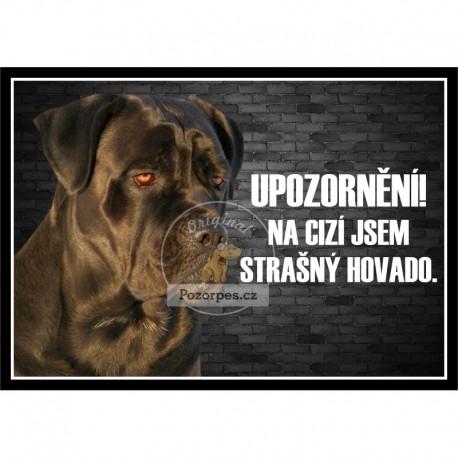 Tabulka SMUTNÝ DŮM více psů - hliník