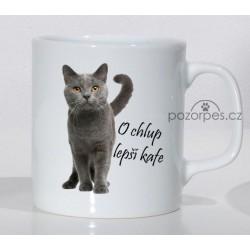 "Britská krátkosrstá kočka modrá - ""O chlup lepší kafe"""