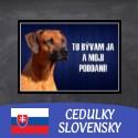 Cedulky SLOVENSKY