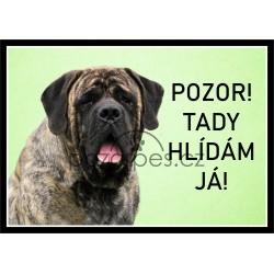 Tabulka Anglický mastif žíhaný - hliník