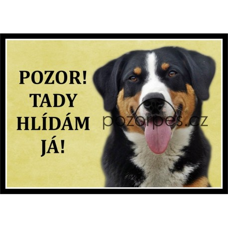 Tabulka Appenzellský salašnický pes - hliník