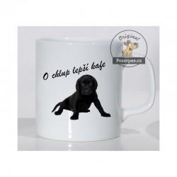 """Labradorský retrívr černý - """"O chlup lepší kafe"""""""