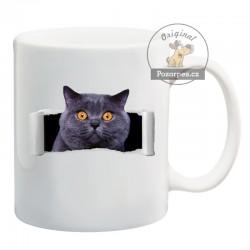 """Hrneček bílý """"Crazy cat"""""""