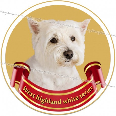 West highland white teriér- samolepa na auto19cm