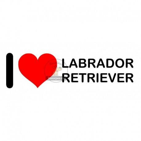 Samolepka na auto I LOVE LABRADOR RETRIEVER