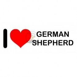 Samolepka na auto I LOVE GERMAN SHEPHERD