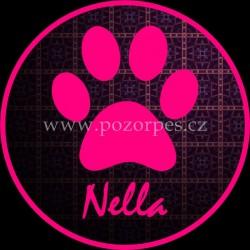 NELLA - Samolepka na auto 3ks