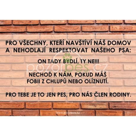 Tabulka ČLEN RODINY - hliník