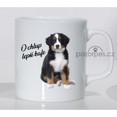 """Bernský salašnický pes - """"O chlup lepší kafe"""""""